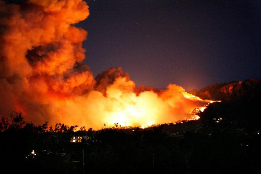 Montecito Tea Fire (2008) — in Montecito and Santa Barbara, California.