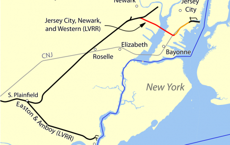 Map of New Jersey; Jersey City is located in the Northeast part of the state.